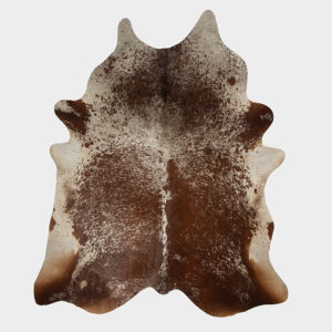 Salt and Pepper Dark Brown Cowhide