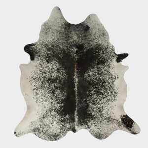 Salt and Pepper Dark Black Cowhide